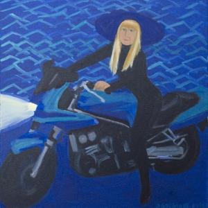 Rudītes Dreimanes jaunās gleznas priekam izstādē «Meitene ar cepuri»